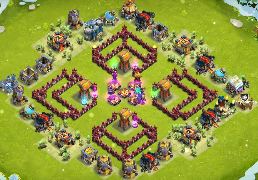 castle clash base design let s play clash of clans season 2 episode 1
